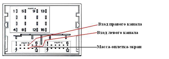 Схема подключения AUX RD4
