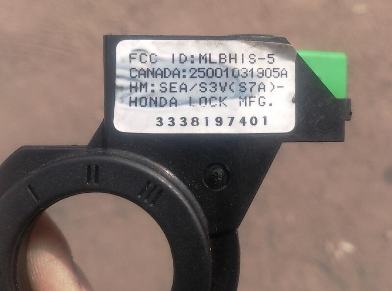 сломалась антенна иммобилайзера honda (hiss)